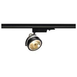 Schrack Technik LI153580KALU TRACK QRB111, black, max. 50W, incl. 3-phase adaptor-