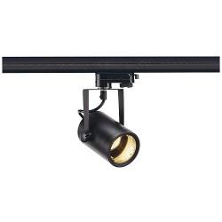 Schrack Technik  EURO SPOT GU10, čierne, 3f adaptér- LI153850