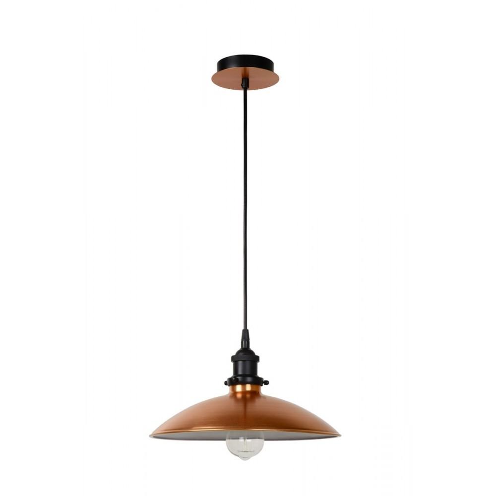 Lucide BISTRO Pendant E27 D32 H12cm Copper- 78310/32/17