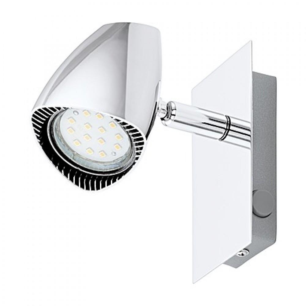 Eglo WL/1 M.WIPP.GU10-LED CHROM CORBERA- 93672, spot nástenný