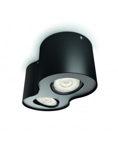 Massive - Philips Phase plate/spiral black 2x4.5W SELV- 53302/30/16 stropné svietidlo