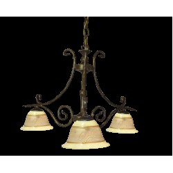 Tilago Parma 131 Chandelier with 3 brand., E14 3x 40W