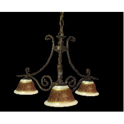 Tilago Parma 101 Chandelier with 3 brand., E14 3x 40W