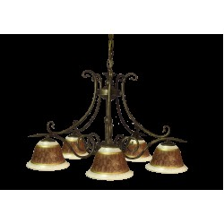 Tilago Parma 102 Chandelier with 5 brand., E14 5x 40W