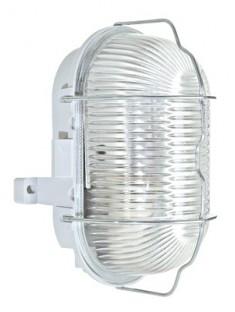 SCHRACK TECHNIK LISO571002  Oval E27, 60W, IP44, grey with wire guard
