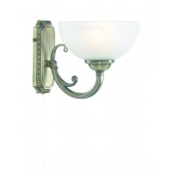 Searchlight 3771-1AB WINDSOR 1LT AB WALL BRACKET-MARBLE GLASS