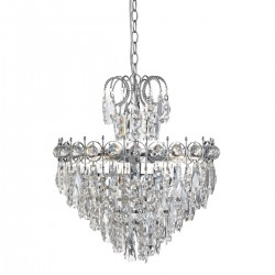 Searchlight 2595-5CC 5LT TIERED CRYSTAL, Luster
