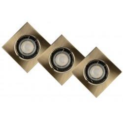 Lucide 11002/15/03 Spot Built-in Square LED 3xGU10/5W 3000K
