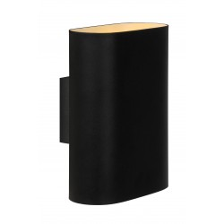 Lucide 12219/02/30 OVALIS Wall Light 2xE14/9W excl.  Black