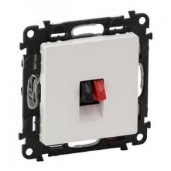 Legrand Valena Life - Jednoduchá reproduktorová zásuvka, biela - 753172