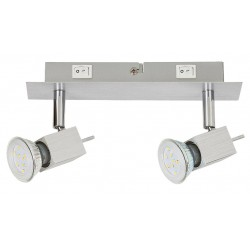 Rábalux AGATA 6758 spot,nástenné, GU10 LED 2 x 5W (400lm, 3000K)