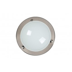 Lucide 07104/30/09 Ceiling Light 1xE27/75W R30cm opal glass Gun Metal