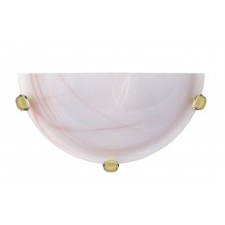 Lucide 07213/01/66 Wall lamp R30cm Alabaster glass E27/60W Pink