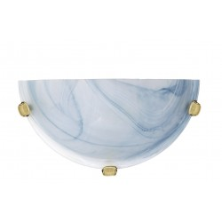 Lucide 07213/01/68  Wall lamp R30cm Alabaster glass E27/60W Bleu