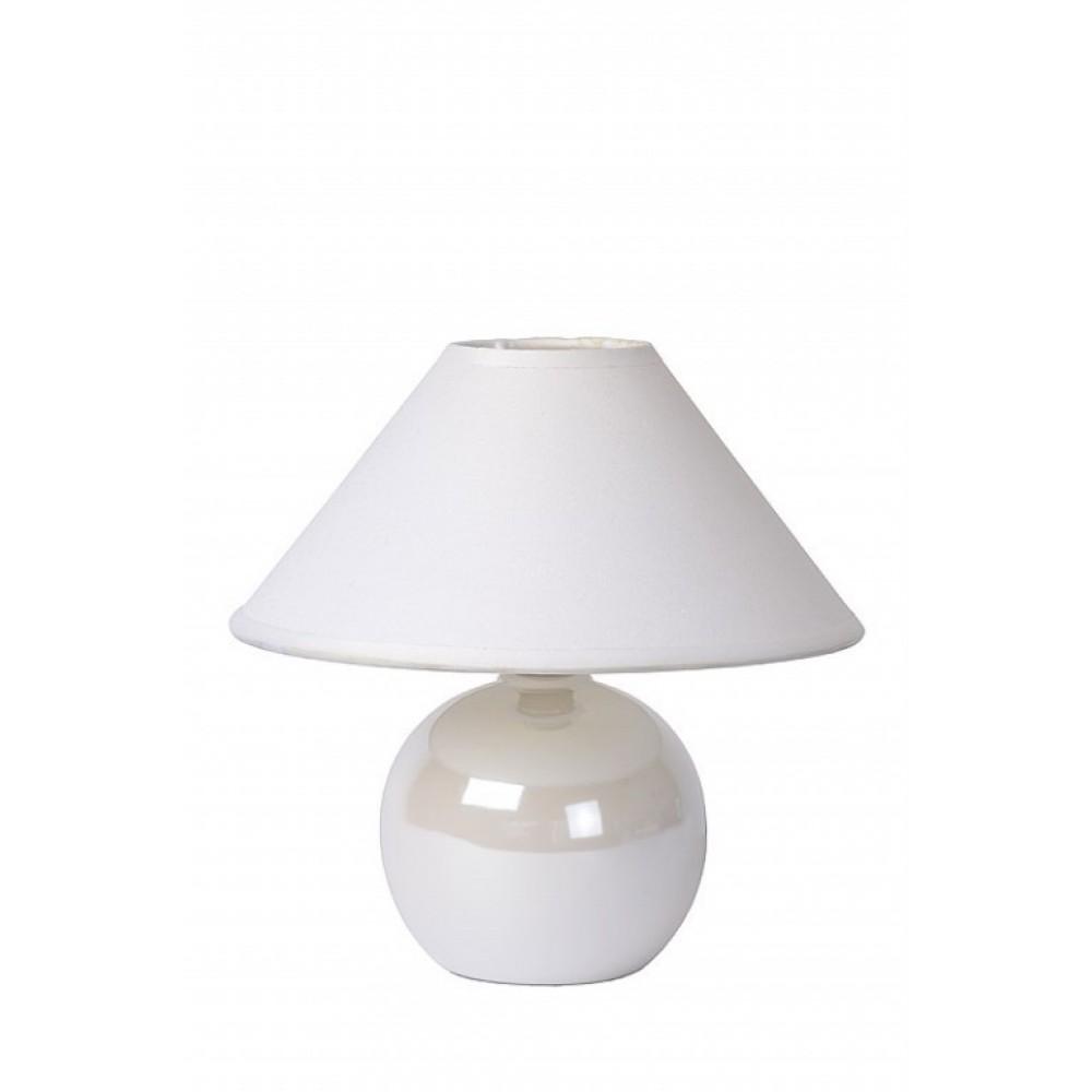 Lucide 14553/81/31 FARO Table lamp Ceram. H.21cm Pearl white