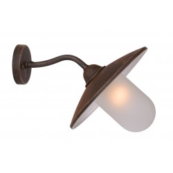 Lucide 11870/01/97 ARUBA Wall Light 1xE27 Frost Glass/Rust