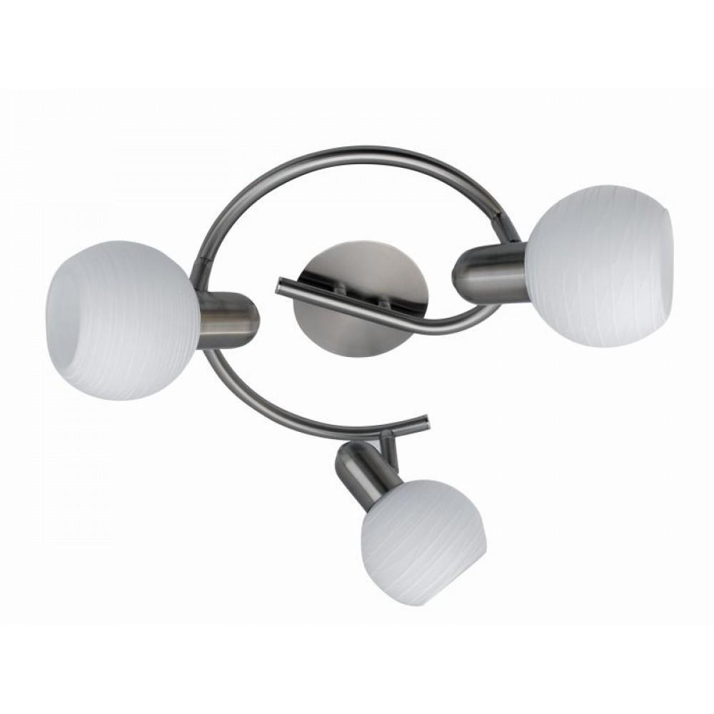 Rábalux 6343 Aurel- nástenná lampa 3ramenná, biele pásiky