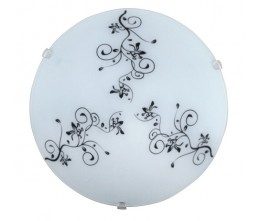 Rábalux 1847 Bloomy,  nástenná/stropná lampa, oranž.pruhy