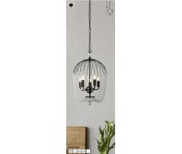 SEARCHLIGHT 30216-5BK Shower, Závesné svietidlo