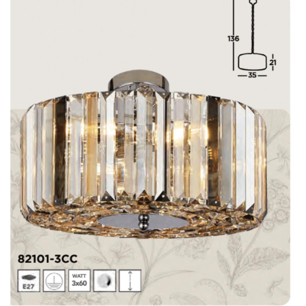 SEARCHLIGHT 82101-3CC Chapeau, Stropné svietidlo