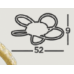 SEARCHLIGHT 85201-5GO Daisy, Stropné svietidlo