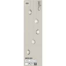 SEARCHLIGHT 28701-5CC Quartz, Závesné svietidlo