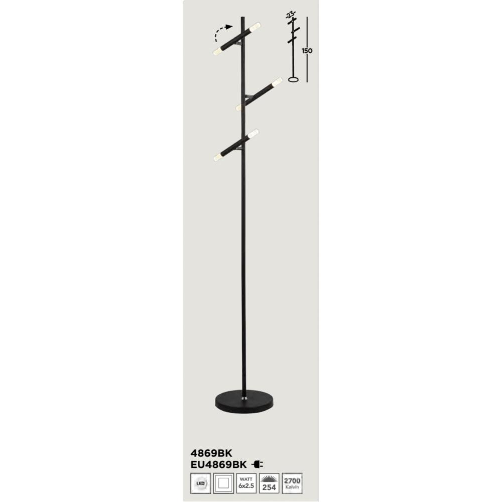 SEARCHLIGHT EU4869BK Wands, Stojanové svietidlo