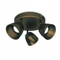 Massive - Philips County plate/spiral bronze 3x4W 230V- 53353/06/16 spot stropný