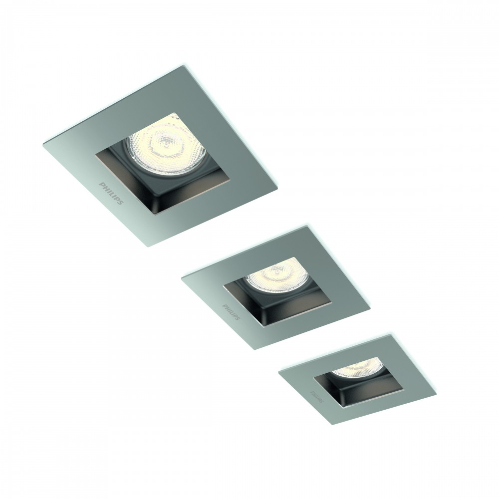 Massive - Philips Porrima recessed nickel 3x4.5W SELV- 59193/17/16, bodové svietidlo