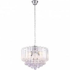 Globo Závesné svietidlo MINNESOTA, kov chróm, akryl a akrylové kryštály, 4xE14 40W 230V- 15303