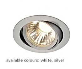 Schrack Technik NEW TRIA LED DISK, stropné, záp., kruhové, stri., 2700K, 60° - LI113594