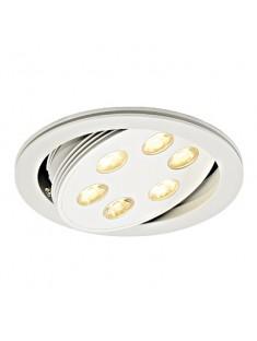 Schrack Technik  TRITON LED downlight 6x3W, matné biele, LED teplá biela- LI113642