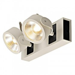 Schrack Technik LI147611  KALU LED 2 Wall- & ceiling luminaire 2x10W 3000K white/black