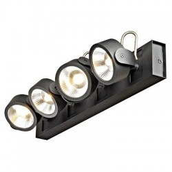 Schrack Technik LI147630  KALU LED 4 long Wall-& ceiling luminaire 4x10W 3000K, black