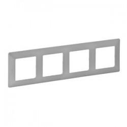 Legrand Valena Life - Štvornásobný rámik, hliník - 754134