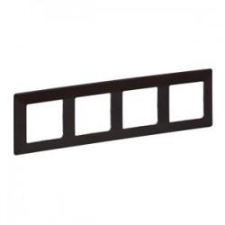 Legrand Valena Life - Štvornásobný rámik, drevo - tmavé - 754174