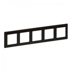 Legrand Valena Life - Päťnásobný rámik, drevo - tmavé - 754175