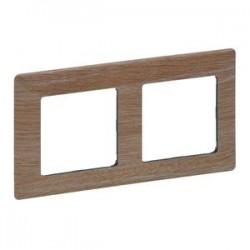 Legrand Valena Life - Dvojnásobný rámik, drevo - svetlé - 754182