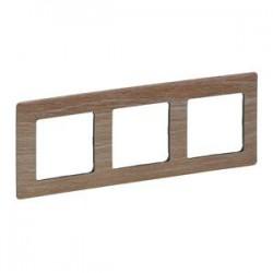 Legrand Valena Life - Trojnásobný rámik, drevo - svetlé - 754183