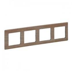 Legrand Valena Life - Štvornásobný rámik, drevo - svetlé - 754184