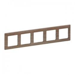 Legrand Valena Life - päťnásobný rámik, drevo - svetlé - 754185