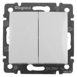 Legrand Valena - Dvojitý striedavý prepínač (5B), biela - 774408