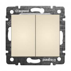 Legrand Valena - Dvojitý striedavý prepínač (5B), béžová - 774308