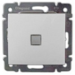 Legrand Valena -  Striedavý prepínač č. 6 s orientačným osvetlením, biela - 774426