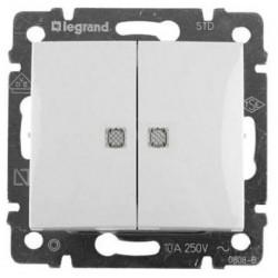 Legrand Valena - Sériový spínač č.5 so signalizačným osvetlením, biela - 774213