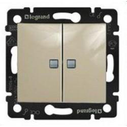 Legrand Valena - Sériový spínač č.5 so signalizačným osvetlením, béžová - 774113