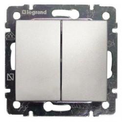 Legrand Valena - Dvojitý striedavý prepínač (5B), hliník - 770108