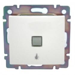 Legrand Valena - Tlačidlo s orientačným osvetlením, symbolom svietidla 10A - 250V, biela - 774413