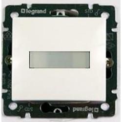 Legrand Valena - Tlačidlo s držiakom štítkov s orientačným osvetlením - 10A - 250V, biela - 774217