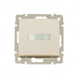 Legrand Valena - Tlačidlo s držiakom štítkov s orientačným osvetlením - 10A - 250V, béžová - 774117